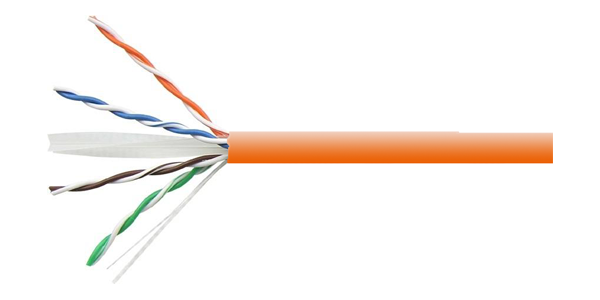 CAT6 UTP 23AWG, PVC CABLE 500M, Orange-img-1