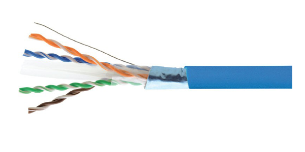 CAT6A FUTP 23AWG, LSZH CABLE 305M, Blue-img-1