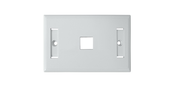 Standard 1-Port for keystone jack Faceplate, White-img-1