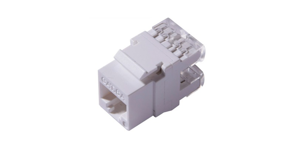 Cat6A, UTP 180 degree Punch down Keystone Jack, White-img-1