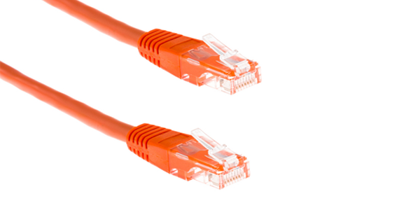 Cat6, UTP, Stranded Patch Cord, 1m, LSZH, Orange-img-1