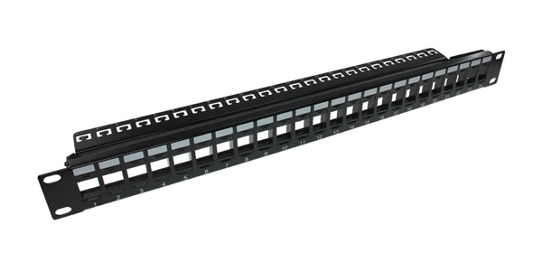 1U, CAT5E, UTP Loaded Patch Panel 24 Port Termination Contact Plating Nickel Termination Type IDC-img-1