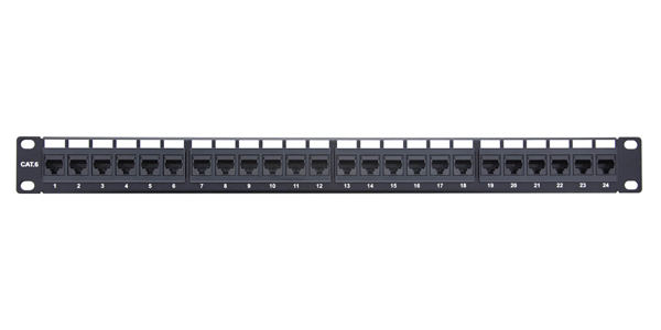 1U, UTP CAT6, Loaded Patch Panel 24 Port Termination Contact Plating Nickel Termination Type IDC-img-1