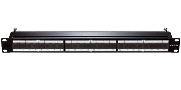 1U, UTP CAT6A, Loaded Patch Panel 24 Port IDC-img-1