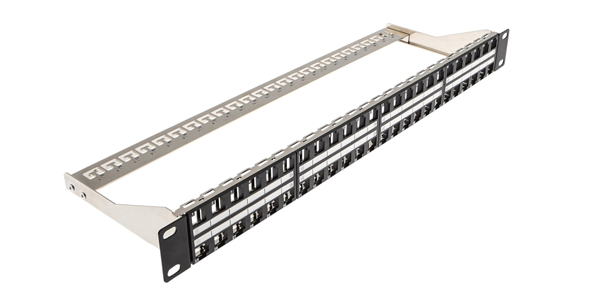 1U, Modular Patch Panel 48 Port Empty-img-1